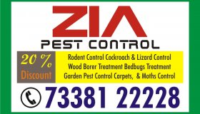 Zia Pest Control | Cockroach Peat Service Rs. 1499 only for Restaurant | 1803